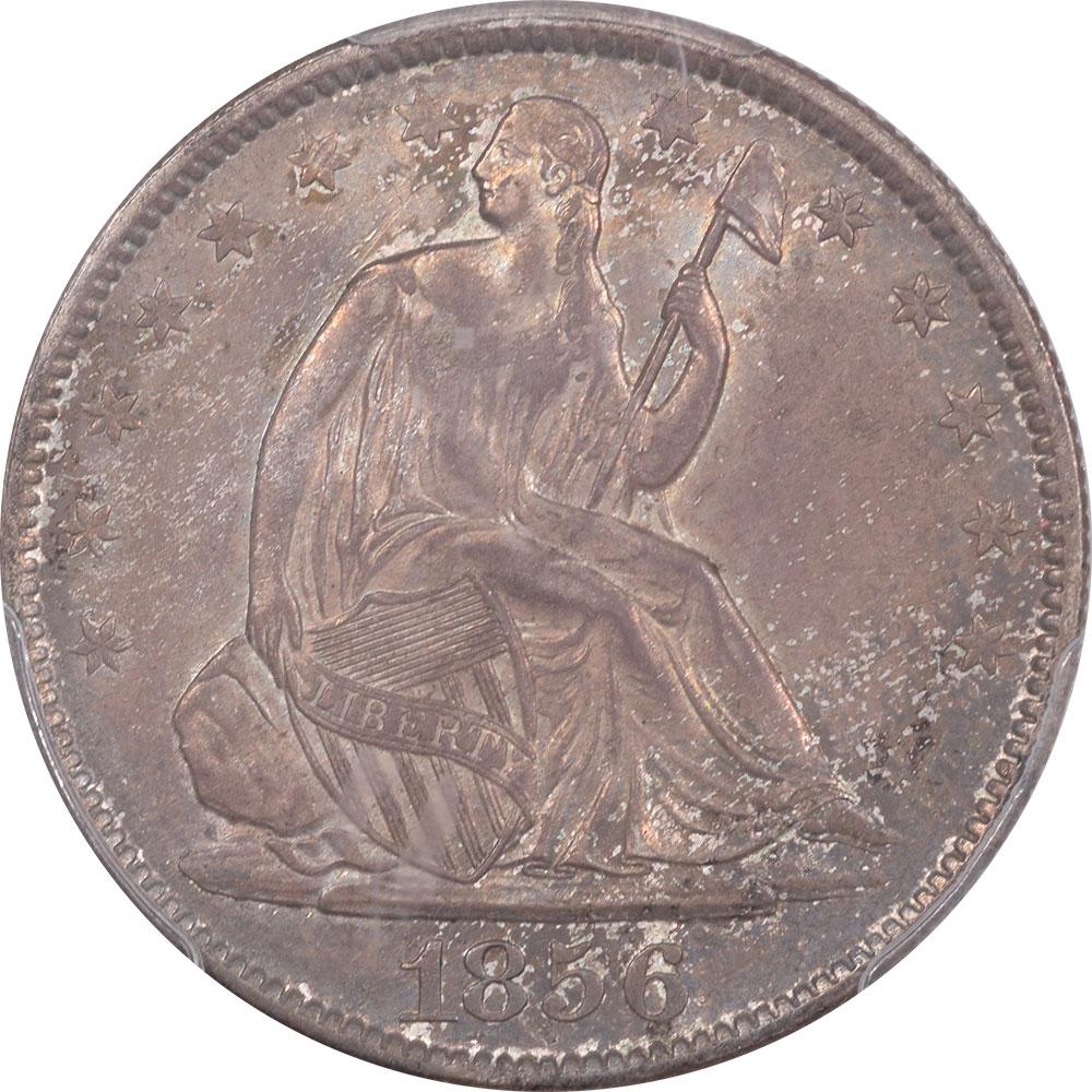 Liberty Seated Halves 1856-O LIBERTY SEATED HALF DOLLAR PCGS MS-63