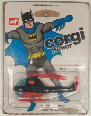 Corgi 1976 CORGI #78 CORGI JUNIORS, BATCOPTER MINT W/ MINT CARD – A SUPERB EXAMPLE