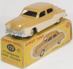 Dinky 1954 DINKY #172 STUDEBAKER LAND CRUISER BEIGE near-MINT W/ FAIR BOX