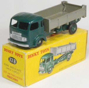 Dinky 1955 DINKY #33B SIMCA CARGO TIPPER LORRY near-MINT W/ EXC BOX