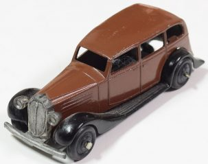 Dinky 1946 DINKY #30d VAUXHALL SEDAN BROWN/BLACK EXCELLENT CAT $210