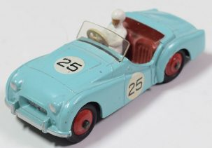 Dinky 1956 DINKY #111 TRIUMPH TR2 LIGHT BLUE/RED INT EXCELLENT CAT $350