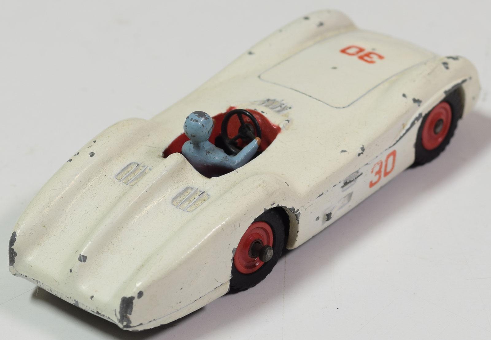 Dinky 1962 DINKY #237 MERCEDES BENZ RACER, CREAM, RED PLASTIC HUBS, BLUE DRIVER-FAIR