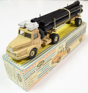 Dinky 1960 DINKY #893 UNIC PIPE TRUCK (FRENCH) EXC W/ VG BOX. CAT $225