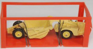 "Dinky 1968 DINKY #98 ""MINI DINKY"" MICHIGAN SCRAPER, YELLOW near-MINT W/ near-MINT BOX"