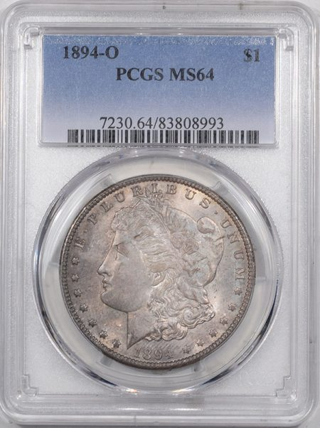 Morgan Dollars 1894-O MORGAN DOLLAR PCGS MS-64, ORIGINAL AND WHOLESOME