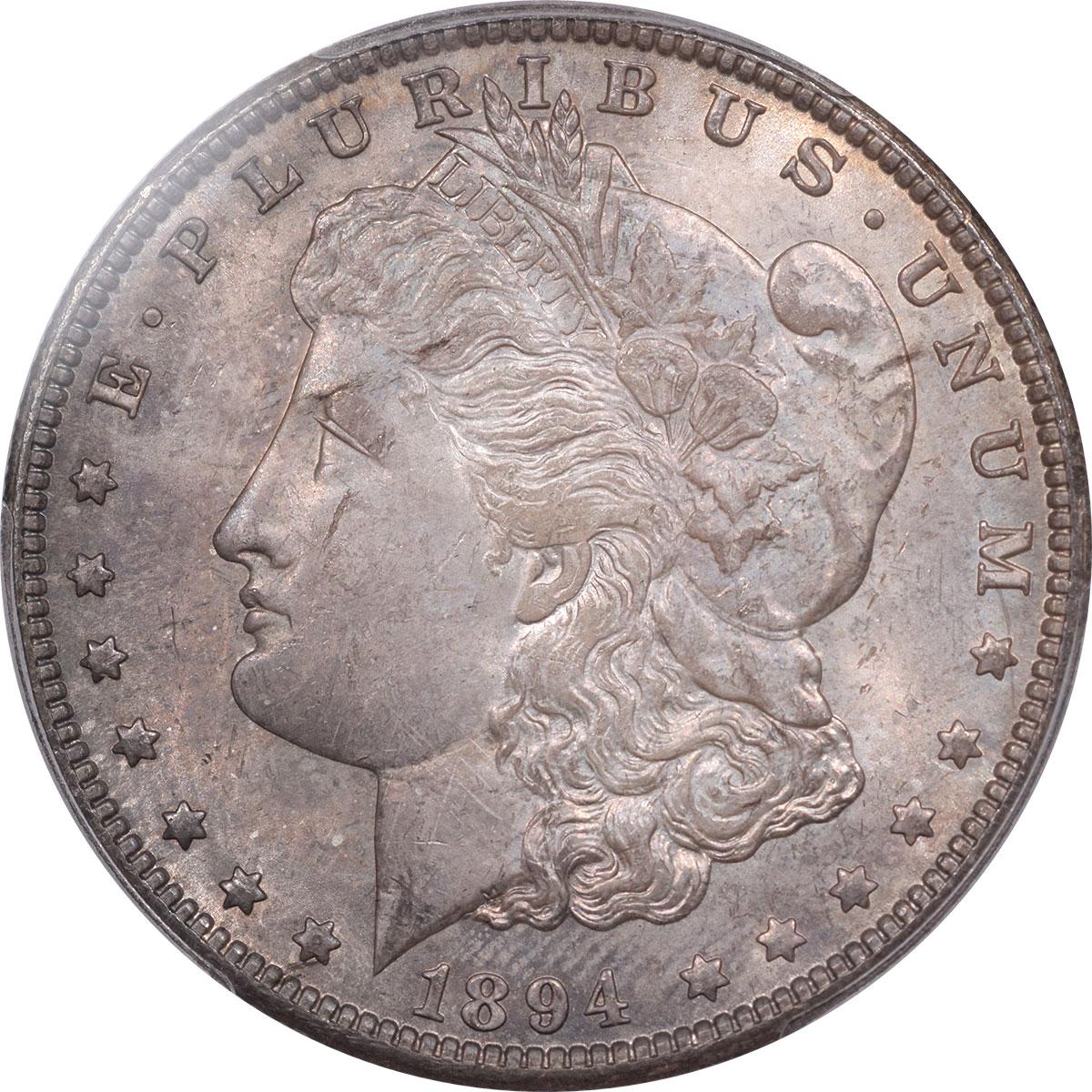 Morgan Dollars 1894-O MORGAN DOLLAR PCGS MS-64, ORIGINAL AND WHOLESOME