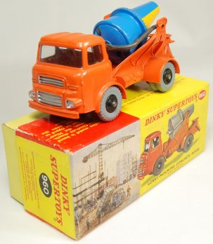 Dinky 1960 DINKY #960 LORRY MOUNTED CONCRETE MIXER, near-MINT W/ EXC BOX