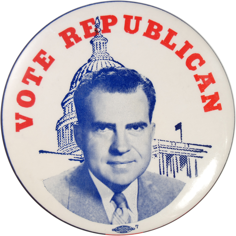 Other Collectibles 1960 4 IN VOTE REPUBLICAN RICHARD M. NIXON CLASSIC CELLULOID BUTTON nr-MINT+
