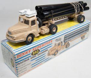 Dinky 1960 DINKY #893 UNIC PIPE TRUCK near-MINT W/ VG+ BOX