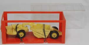 "Dinky 1968 DINKY #98 ""MINI DINKY"" MICHIGAN SCRAPER, YELLOW  MINT W/ MINT GARAGE BOX"