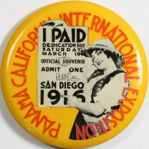 Other Collectibles 1916 PANAMA PACIFIC INTL EXPOSITION 2 1/4″ PAID ADMISSION BUTTON-RARE MINT