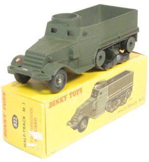 Dinky 1962 DINKY #822 HALF TRACK M3 MINT W/ near-MINT BOX