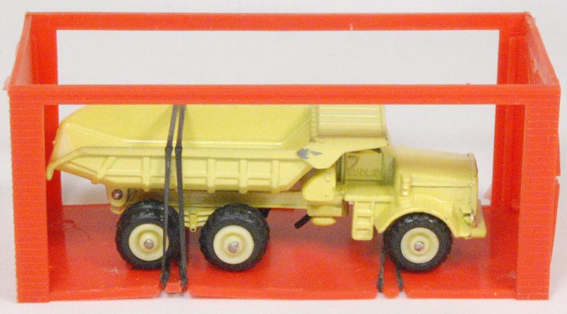 """Dinky 1968 DINKY #97 """"MINI DINKY"""" EUCLID R-40 DUMP TRUCK MINT W/ near-MINT GARAGE BOX"""