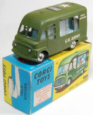 Corgi 1964 CORGI #359 ARMY FIELD KITCHEN MINT W/ VG+ BOX