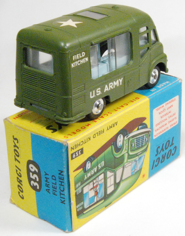 Corgi 1964 CORGI #359 ARMY FIELD KITCHEN MINT W/ VG+ BOX
