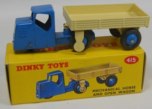 Dinky DINKY #415 MECHANICAL HORSE AND OPEN WAGON, near-MINT w/ near-MINT BOX