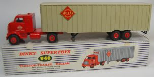 Dinky DINKY #948 TRACTOR TRAILER, MCLEAN EXC w/ EXC BOX