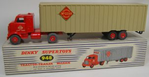 Dinky DINKY #948 TRACTOR TRAILER, MCLEAN  VG+ w/ near-MINT BOX; ONE MISMATCHED DOOR