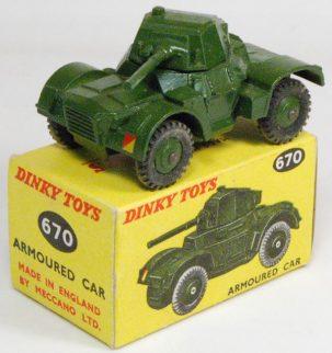 Dinky 1955 DINKY #670 ARMOURED CAR near-MINT W/ EXC BOX