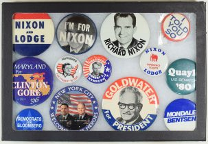Other Collectibles 1960-1996 LARGER CAMPAIGN BUTTONS, LOT/13 EXC NEAR MINT DH1996