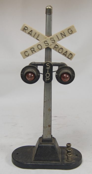 Other Collectibles 1940 LIONEL #154 LIGHTED CROSSING SIGN IN VG. FULLY OPERATIONAL POPULAR ACCCESORY