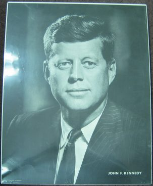 Other Collectibles 1960 JOHN F. KENNEDY PHOTO CAMPAIGN POSTER, 22 X 28, MADE BY FABIAN BACHRACH XF+