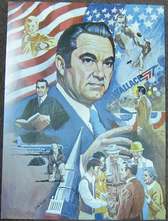 Other Collectibles 1976 SCARCE GEORGE WALLACE 17 X 23 CAMPAIGN POSTER, GRAPHIC, CARDBOARD STOCK XF+