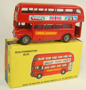 Other Collectibles 1960 BUDGIE #236 ROUTEMASTER BUS, RED, HOUSES OF PARLIAMENT MINT w/ MINT BOX