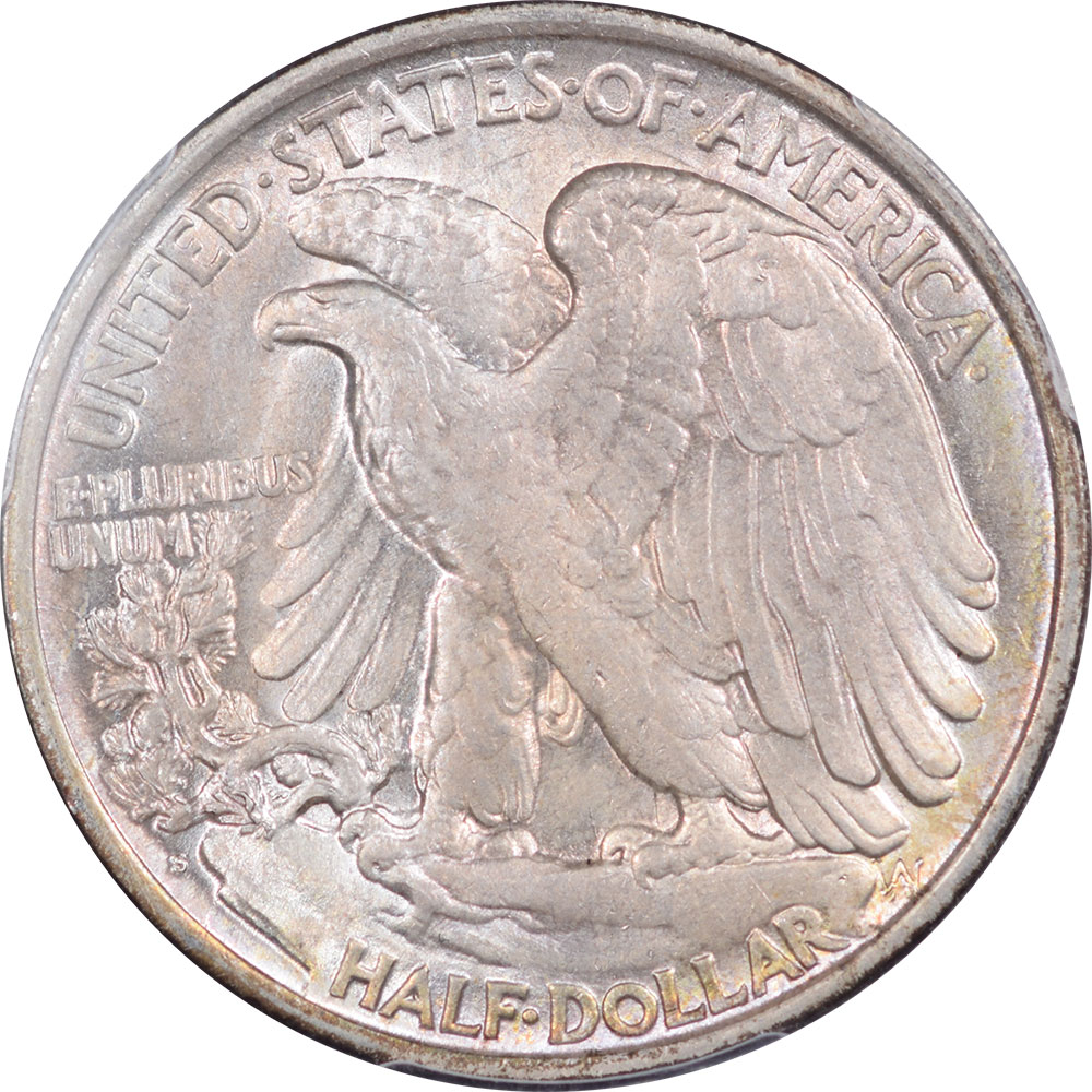 Walking Liberty Halves 1917-S WALKING LIBERTY HALF DOLLAR – REVERSE PCGS MS-63