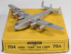 Dinky 1954 DINKY #704 AVRO YORK AIR LINER near-MINT W/ EXC BOX; A NICE EXAMPLE!