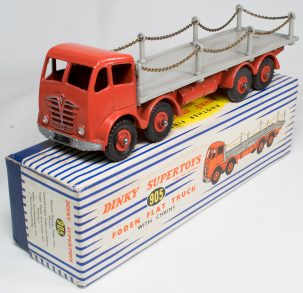 Dinky 1954 DINKY #905 FODEN FLAT TRUCK, RED/GREY EXC MODEL W/ EXC BOX