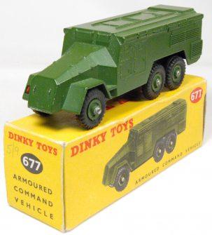 Dinky 1957 DINKY #677 ARMOURED COMMAND VEHICLE near-MINT w/ VG BOX