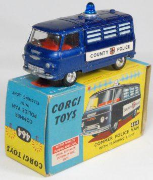 Corgi 1967 CORGI #464 COMMER POLICE VAN EXC w/ VG BOX