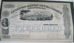 Other Collectibles 1872 CINCINNATI RAILWAY CO STOCK CERTIFICATE JAMES FREMONT SIGNED NEAR MINT