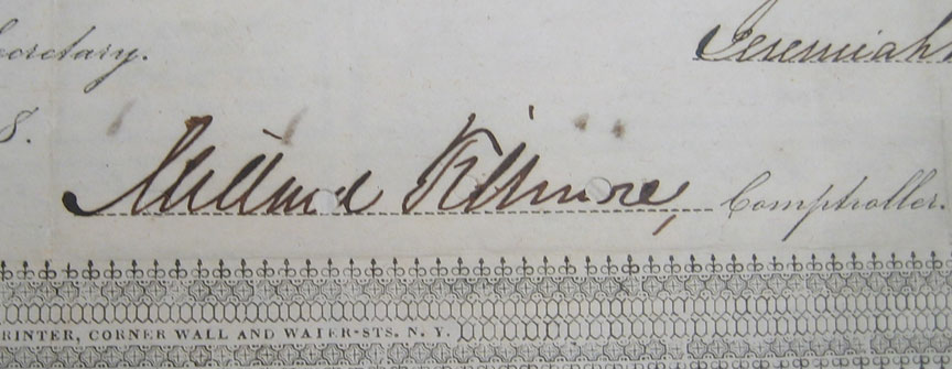 Other Collectibles 1848 HUDSON RAILROAD BOND NOTE MILLARD FILLMORE SIGNED EXC/NR MINT