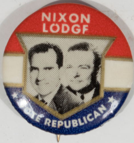 Other Collectibles 1960 1″ NIXON-LODGE JUGATE SHIELD BUTTON; ONE OF THE KEY 1960 NIXON BUTTONS MINT