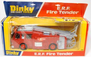 Dinky 1976 DINKY #266 E.R.F. FIRE TENDER, GREY LADDER/LADDER WHEEL MINT W/ GOOD + BOX
