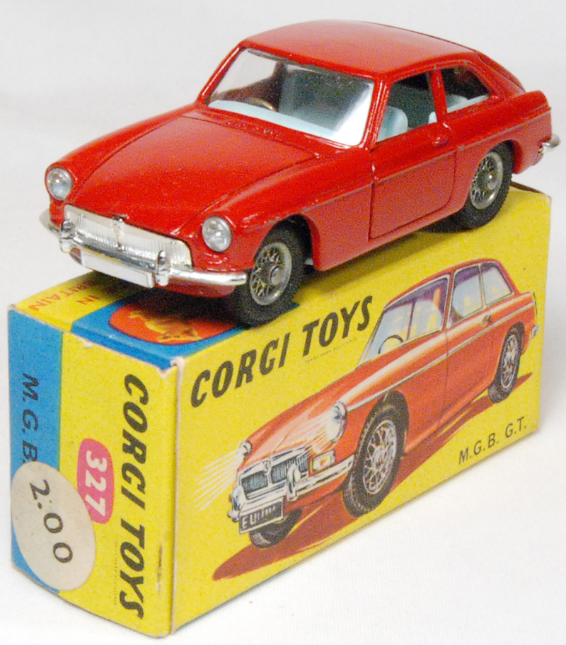 Corgi 1967 CORGI #327 M.G.B. G.T. near-MINT W/ EXC BOX