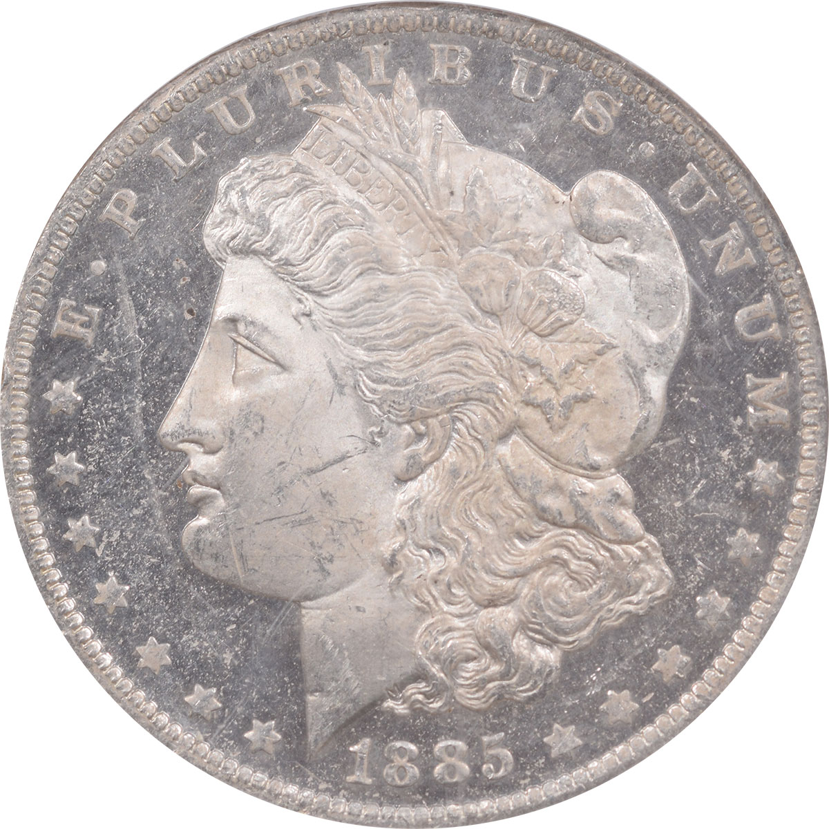 Morgan Dollars 1885-O MORGAN DOLLAR NGC MS-63 DPL, PREMIUM QUALITY