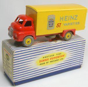Dinky 1955 DINKY #923 BIG BEDFORD VAN – HEINZ EXC W/ EXC BOX
