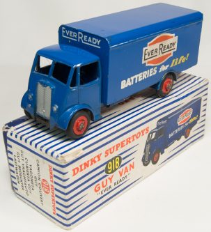Dinky 1955 DINKY #918 EVER READY GUY VAN EXC W/ VG+ BOX