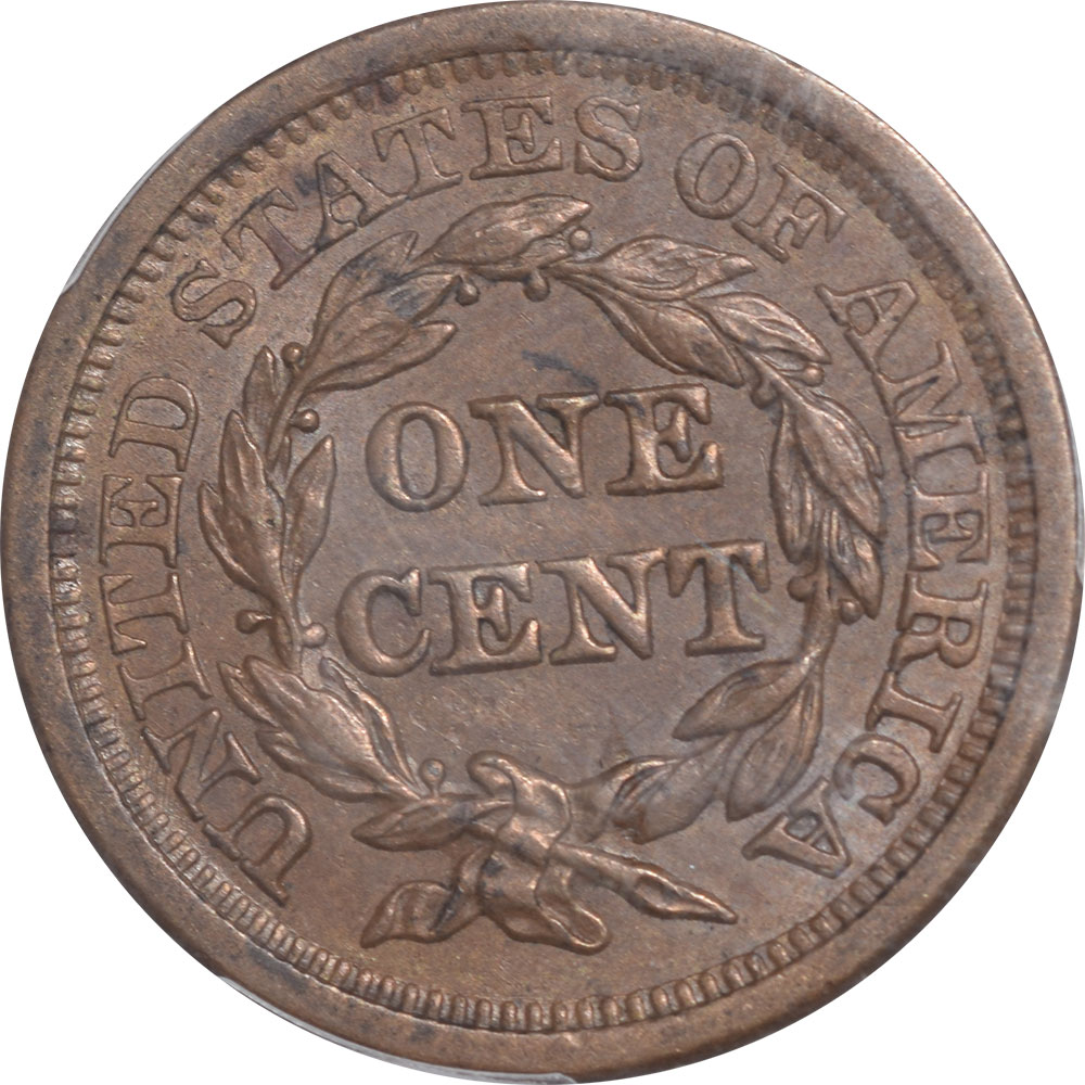 Braided Hair Large Cents 1857 BRAIDED HAIR CENT – LARGE DATE PCGS MS-63 BN