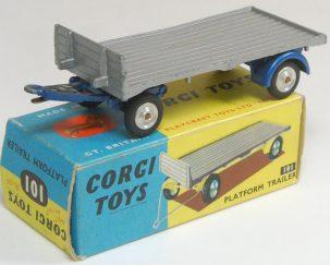 Corgi 1958 CORGI #101 PLATFORM TRAILER VG+/EXC W/EXC BOX