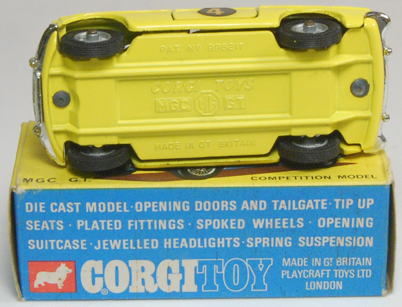 Corgi 1969 CORGI #345 MGC GT NEAR-MINT W/NEAR-MINT BOX
