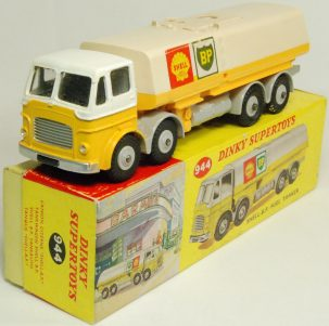 Dinky 1963 DINKY #944 SHELL B.P. FUEL TANKER EXC W/ EXC BOX
