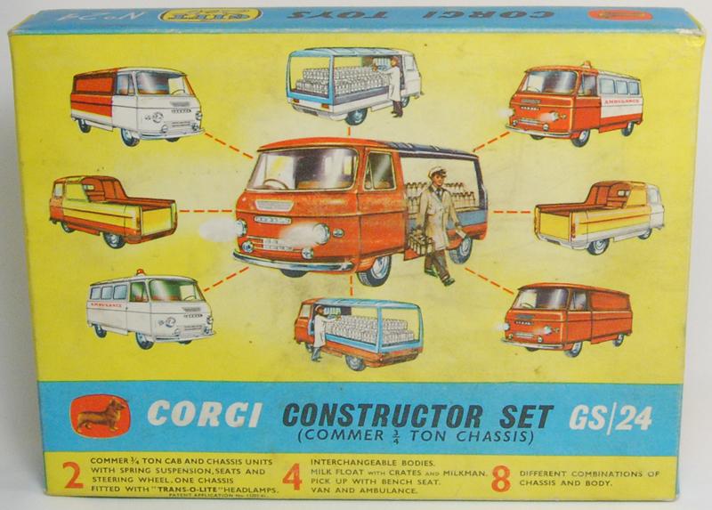 Corgi 1963 CORGI #GS-24 CONSTRUCTOR SET (3/4 TON CHASSIS) VG+/EXC W/ VG+/EXC BOX