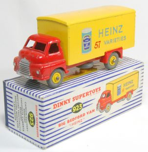 Dinky 1955 DINKY #923 BIG BEDFORD, HEINZ (BEAN CAN) EXC W/ EXC+ BOX
