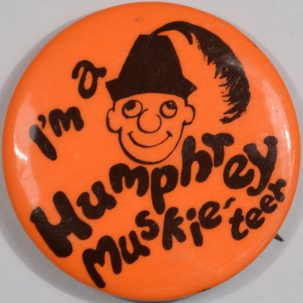 Other Collectibles 1968 CLASSIC HUBERT H. HUMPHREY, 1 3/4″ CAMPAIGN BUTTON, nr-MINT