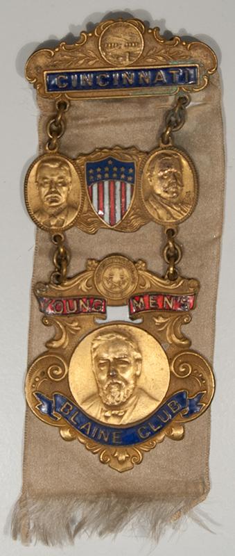 Other Collectibles 1908 YOUNG MEN'S BLAINE CLUB, CINC OH W/ T ROOSEVELT, WM TAFT & BLAINE NR MINT